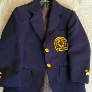 Boys' school blazer, replaceable crest EUC